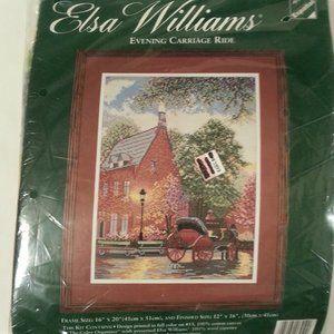 EVENING CARRIAGE RIDE Elsa Williams Needlepoint